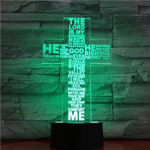 Image 2 - Jesus Christ Cross Shaped Usb 3d Led Night Light Mom Mother Gifts Christian Believer Desk Table Lamp Bedroom Neon Nightlight