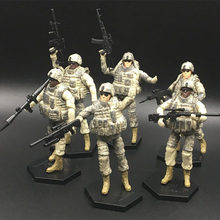 6set Different Assemble Military Soldier Model 101st Airborne Division Air Assault Building Blocks Toys Model Kits for Children(China)