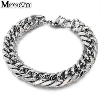 a3a5642767e9 Moorvan 100% de acero inoxidable de regalo de Navidad cadena y enlace  pulsera joyería de