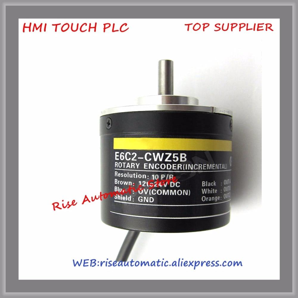 Rotation Encoder E6C2-CWZ5B 10P R New Original e6c2 cwz6c om encoder 1024p r 2m 5 24vdc new and original