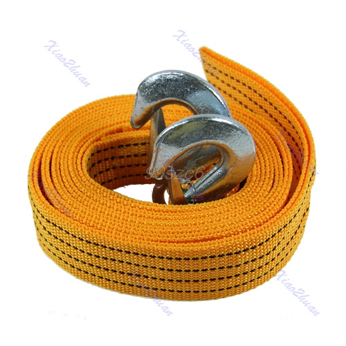 4M 5 Ton Car Tow Cable Heavy Duty Towing Pull Rope Strap Hooks Van Road Recovery Aug10 Drop Ship