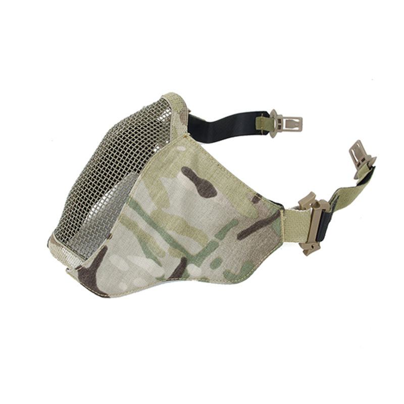 2589-MC Airsoft Paintball PDW Soft Side 2.0 Tictical Half Face Mesh Mask Metal Mesk Mask