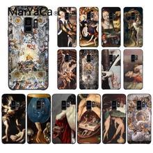 Maiyaca Ренессанс живопись корпус под плетенную сумку чехол для телефона для samsung Galaxy S4 S5 S6 S7 S8 S9 S6 край S7 край