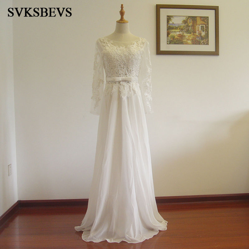 Full Sleeve Wedding Gown: SVKSBEVS 2017 New A Line Embroidery Sweetheart Full Sleeve
