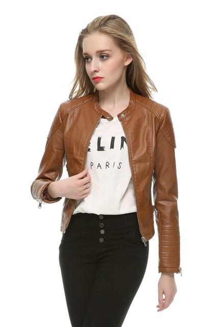 Slim Motorbike Retro Faux Leather Jacket