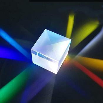 Przyrząd do testowania 15*15*15mm szkło optyczne sześć stron pryzmaty kątowy obiektyw optyczny K9 szklany materiał tanie i dobre opinie Inpelanyu Cube Regular 80 50 C01604 K9 Optical Glass Telescope Scientific Experiment Teaching Experiment Lamp Colored Prism