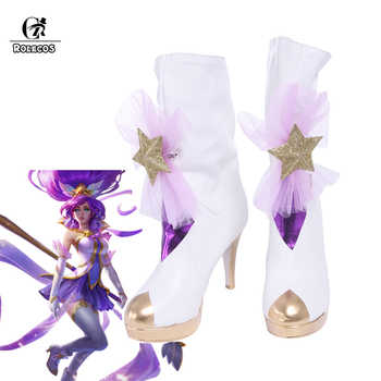 ROLECOS LOL Cospaly Janna Boots Star Guardian Shoes Cospaly Magical Girl Janna Brand Customer Size Made - DISCOUNT ITEM  47% OFF All Category
