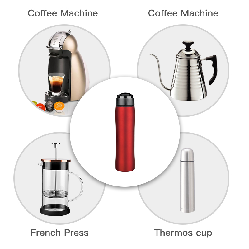350ML Franceze Press Stianless Steel Portable Kafe Press Maker - Kuzhinë, ngrënie dhe bar - Foto 5