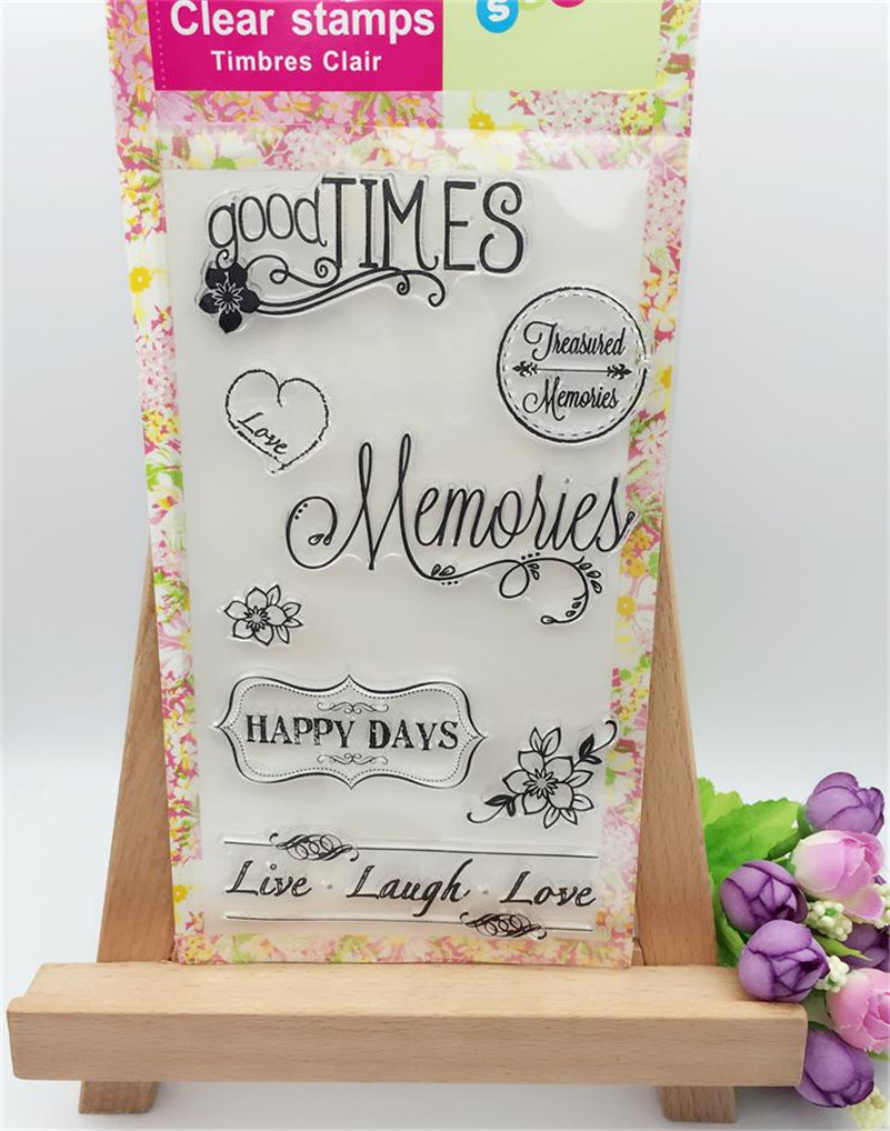 How to scrapbook good - New Arrival Good Time Happy Day Silicone Transparent Clear Stamp Seal For Diy Scrapbooking