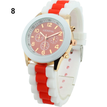 Popular Women's Geneva Silicone Band Jelly Gel Quartz Analog Daily Sport Watches for Women NO181 5V8Y W2E8D
