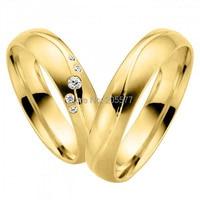 Vogue ювелирные изделия из желтого золота Покрытие Ручной работы titanium Подарок на годовщину свадьбы пары колец