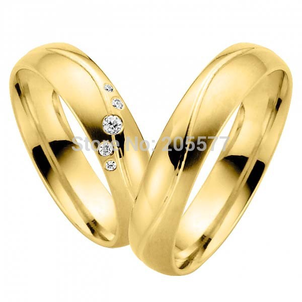 vogue fashion jewelry yellow gold plating handmade titanium