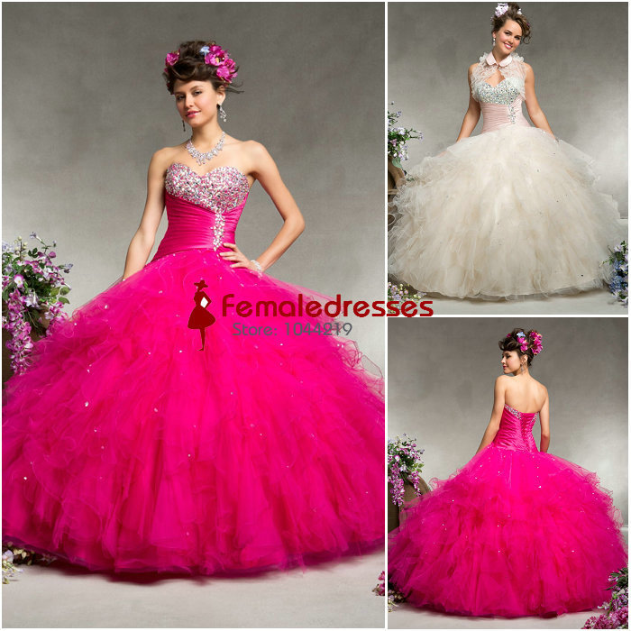 Aliexpress.com : Buy 2015 Famous Sweetheart Tulle Beaded Nude 15 ...