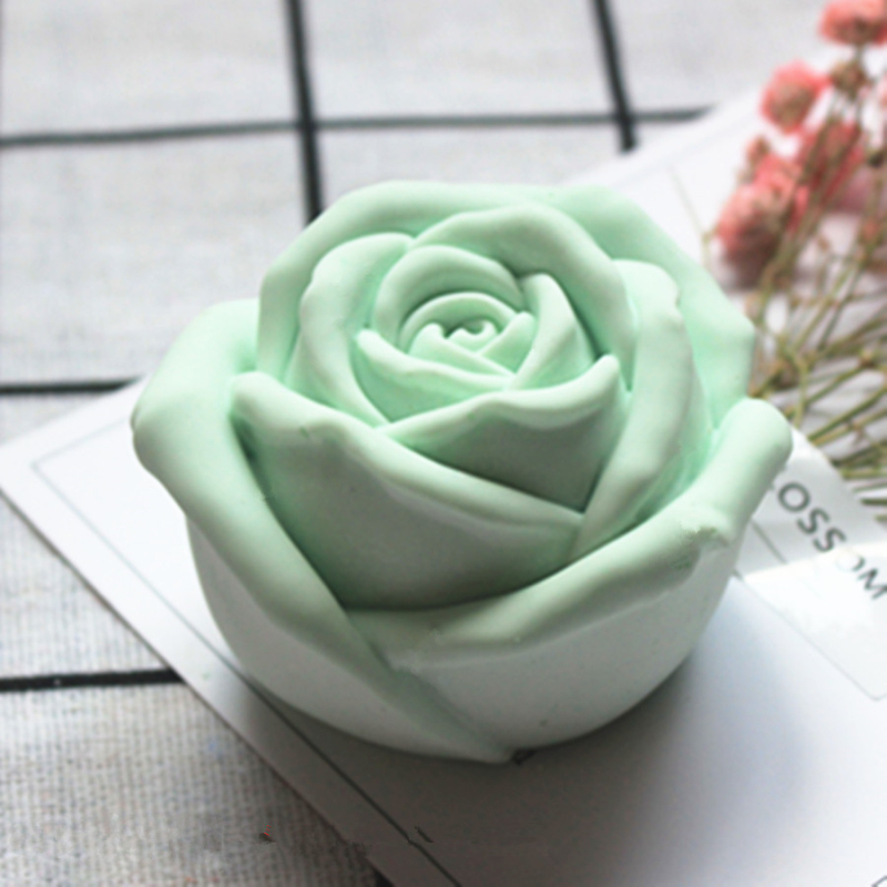 3D Rose Flower Mold Silicone Form For Candle Mould Rose Aromatherapy Candle Silicone Molds DIY Gypsum Clay Craft Home Decoration