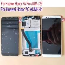Çerçeve ile 5.7 Yeni Huawei Onur 7A Pro AUM L29 LCD Ekran dokunmatik ekranlı sayısallaştırıcı grup Onur 7C AUM L41 LCD ekran