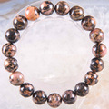 "Free Shipping Stretch 10mm Round Beads Natural Stone Pink Rhodonite Bracelet 8"" 1Pcs LH1729"