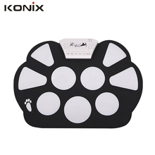 Real Sale W758 Digital Portable Silicone 9 Pad Musical Instrument Electronic Roll-up Roll up Drum Kit USB port with Stick
