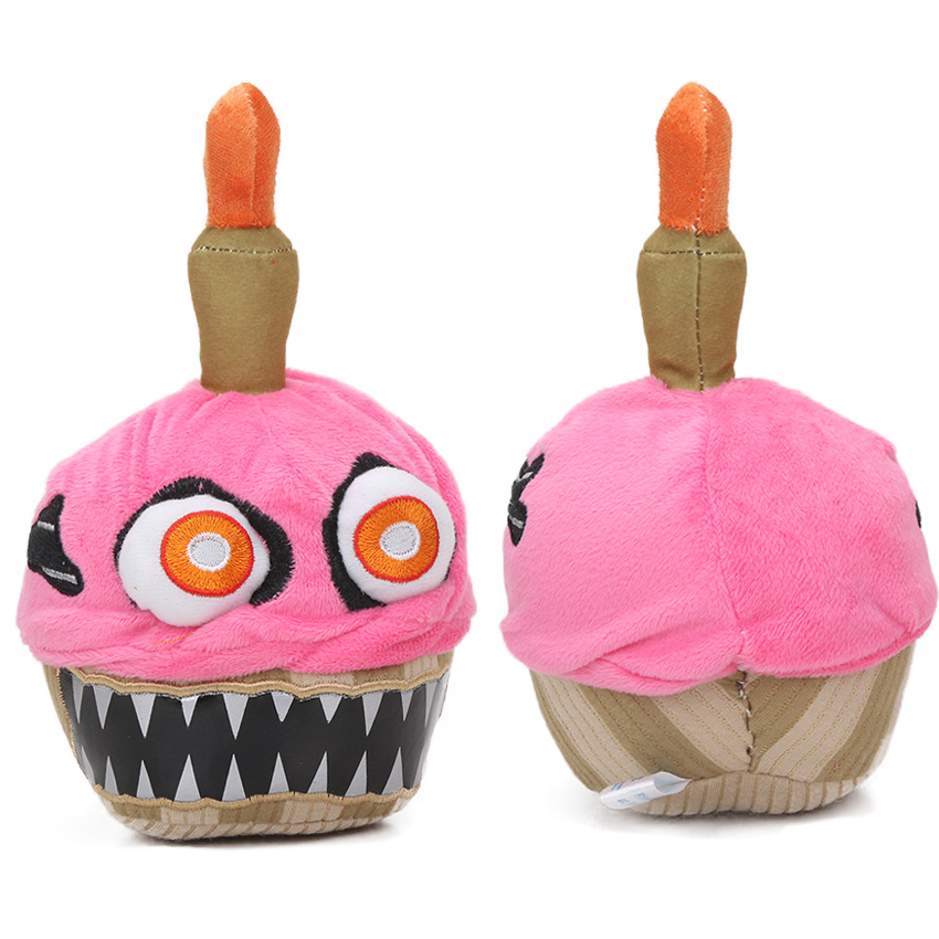 3 Count Plush Cupcake Backpack Charm Squishy