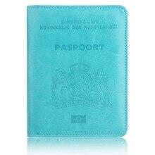TRASSORY RFID Blocking Netherlands Passport Holder Multifunctional Dutch Holland Leather Case Cover Wallet