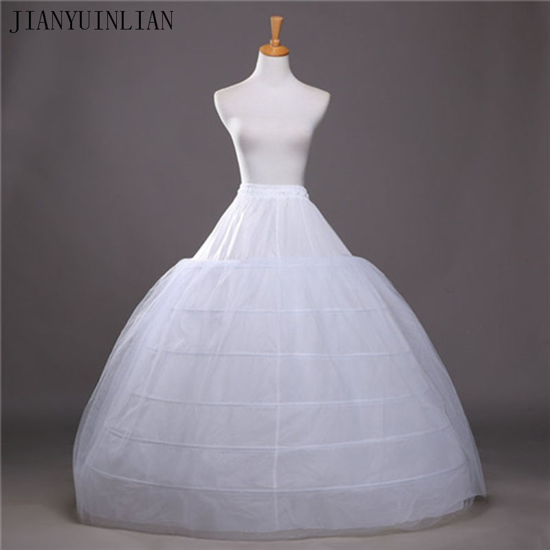 2020 SoDigne Ball Gown Petticoats For Wedding Dresses Elastic 6 Hoops One Tiers Dress Underskirt Crinoline Wedding Accessories