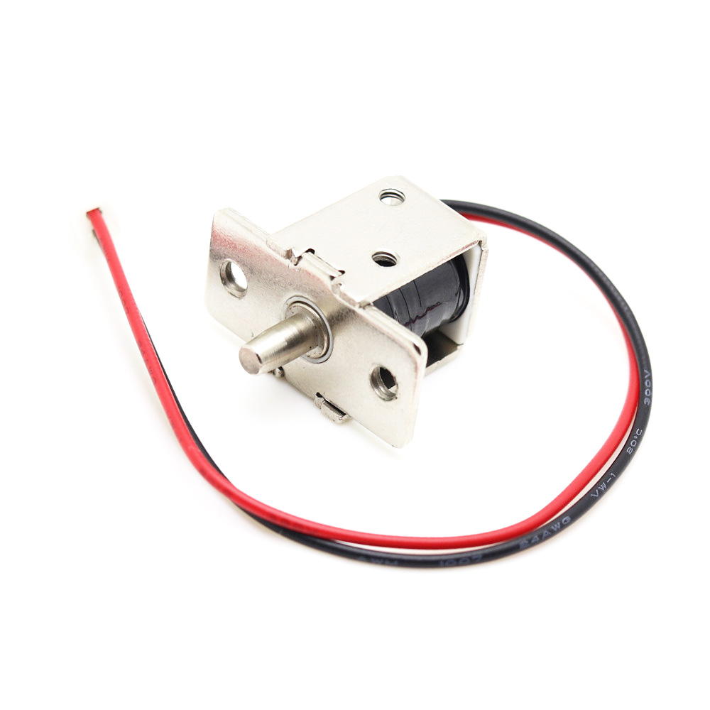 DC 12V Mini Size Solenoid Electromagnetic Electric Control Push-Pull Cabinet Drawer Door Lock for DIY Project цена