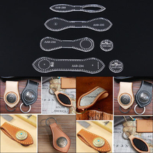1 ПК акрил трафареты DIY кожа ручной работы ремесло Ключ Пряжка швейный узор