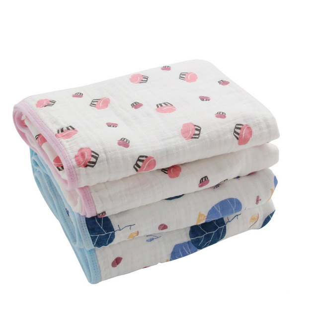 """Multifunctional Double Layers Baby Blanket for Spring Autumn Infant Swaddle Bedding Quilt Kids Bath Travel Towel Size 45*45"""""""