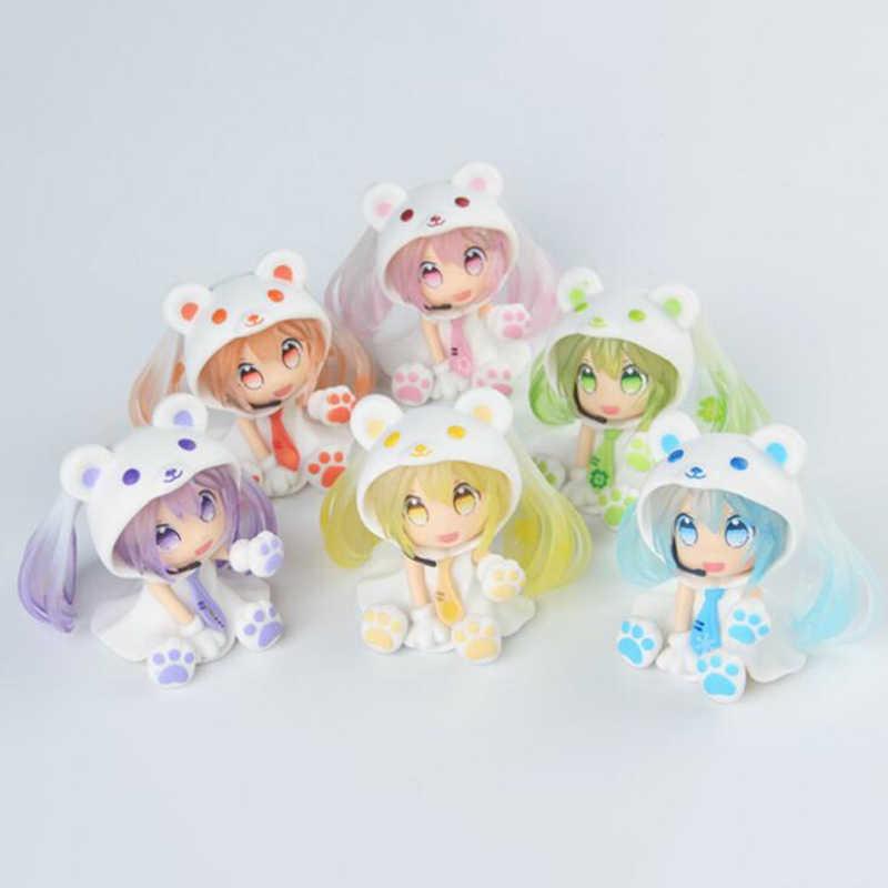Nova 6 cm figma mini-hatsune Miku nendoroid anime toy figuras Coleção presente para crianças de ação & toy figuras de ação figura
