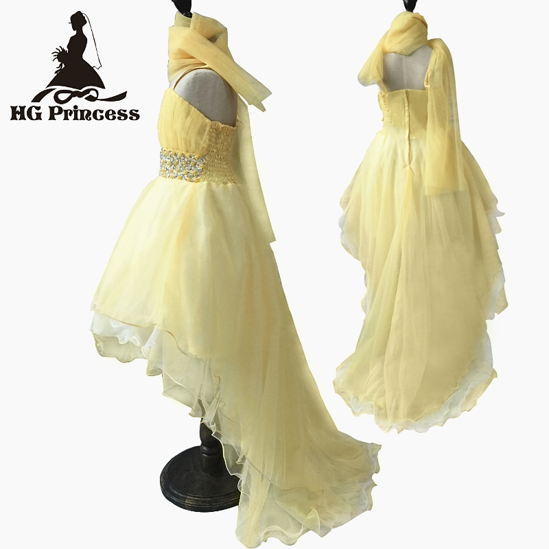 Hg Princess 2016 New Arrival Formal Kids Dresses For Girls 4t-12t Child Party Dress Beading Pink Flower Girl Dresses With Train summer 2017 new girl dress baby princess dresses flower girls dresses for party and wedding kids children clothing 4 6 8 10 year