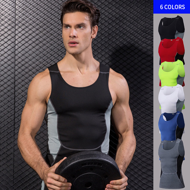 5acb917fcbea9 YD 2017 Logo Custom Quick Dry Running Vest Training Sleeveless Workout Tank  Top Fitness Tights Men Sport Suit Gym Man s T-Shirt