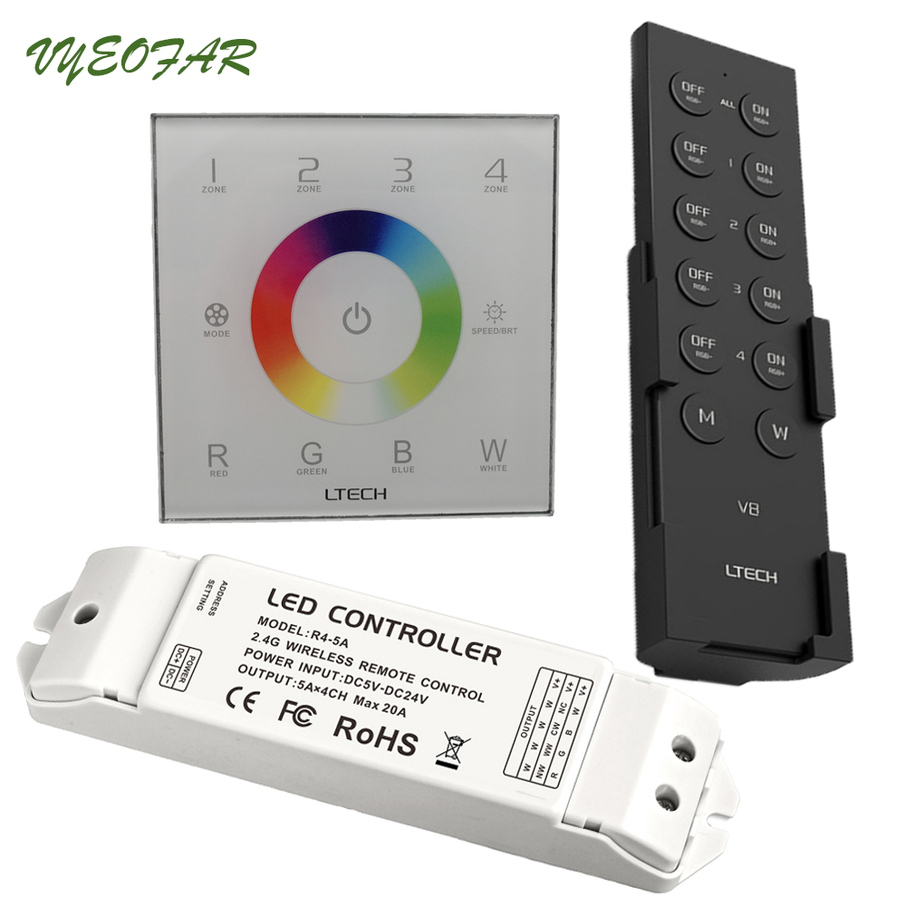 New Ltech DX8 rgbw touch panel led controller 4 Zones RF 2.4G+DMX512 master RGBW wall mounted,for rgbw strip led panel dx8 автомобильный gps навигатор navitel t700 3g