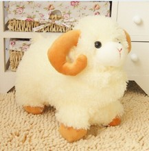 big lovely plush sheep toy the Simulation dolly sheep doll beige sheep doll with yellow claws gift about 45cm