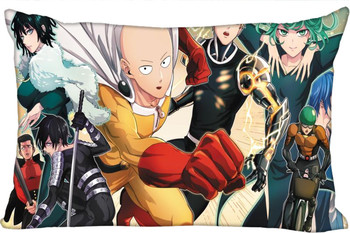 Custom Pillowcase ONE PUNCH-MAN rectangle Zipper Pillow Throw Pillow Case Cover 45x35cm(One Side) Printed