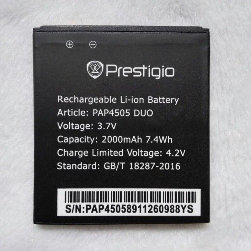 100% Original Prestigio PAP 4505 2000mAh Mobile Li-ion Polymer Battery Bateria for Prestigio PAP4505 DUO Batterie Accumulator