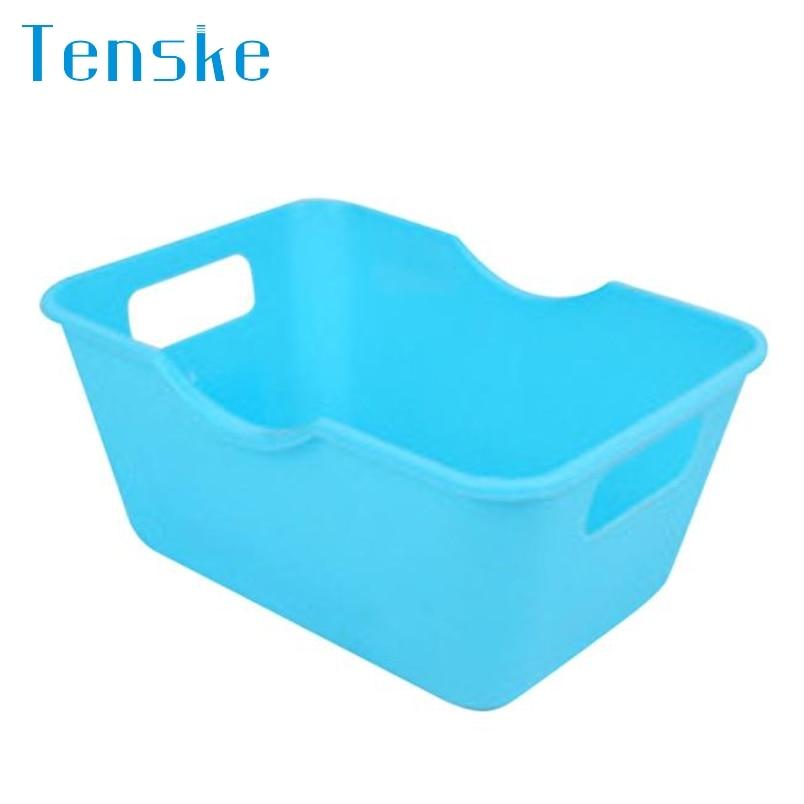 Tenske colorful candy Plastic Office Desktop Storage Boxes Makeup Organizer Storage Box *30 Drop