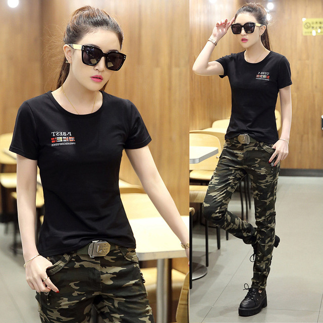 9caec0eba7 Female Army Fashion Camouflage Pants Big Size 6XL Trousers Lady Tight  Elastic Casual Military Cargo Pants
