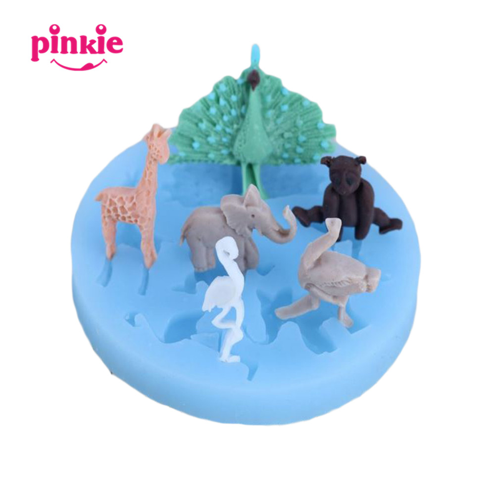 Cake Decorating Animal Figures Compare Prices On Silicone Animal Molds Online Shopping Buy Low