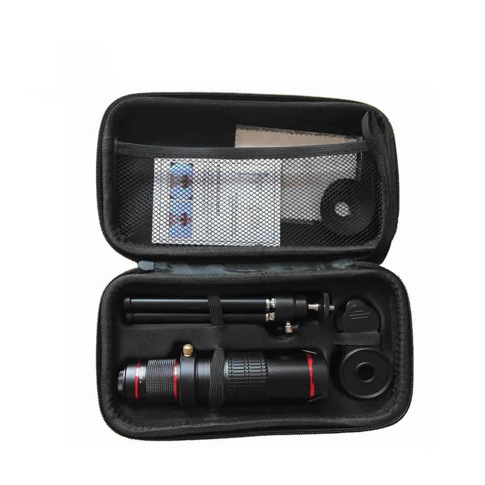 ET Cellphone Phone Telephoto Lens Universal Optical Zoom 12X 15X  22x Monocular Telescope Magnifier Optical Zoom Lens W/ Tripod