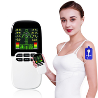 Eletrode Pads Electrical Muscle Stimulator Dual Machine/ Nose Rhinitis Sinusitis/Therapeutic Acupuncture Full Body Massage