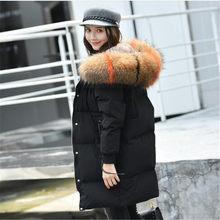 90% White Duck Down Coat Female 2018 Winter Jacket Women 100% Large Real Raccoon Fur Collar Hooded Thick Parka Plus Size 5XL(China)