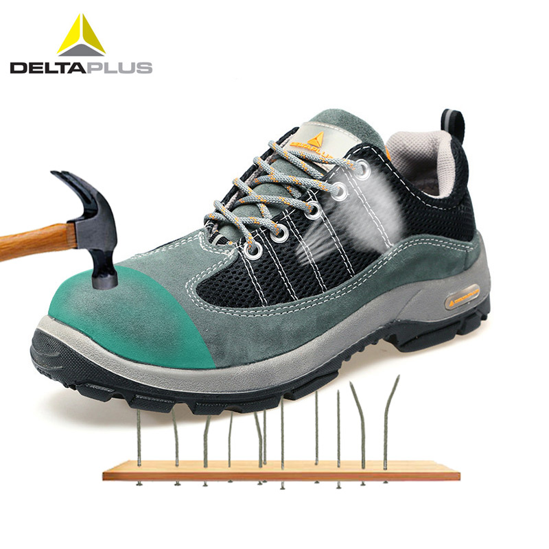 Deltaplus 301322 Safety Shoes Steel Toe Anti-piercing Footwear Breathable Non-slip Labor Shoe Boots Wear-resistant Working Shoes