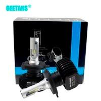 Geetans 2pcs H4 H7 LED Car Headlight 9006 9007 9008 H1 H3 H13 H11 H27 880