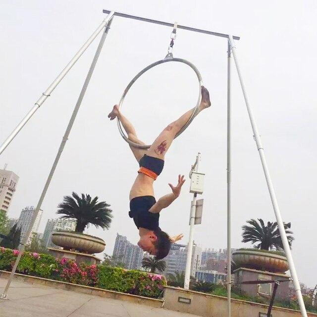 Yoga schaukel Rahmen Aerial yoga Stand edelstahl Hohe qualität lange länge Yoga schaukel unterstützung stehen