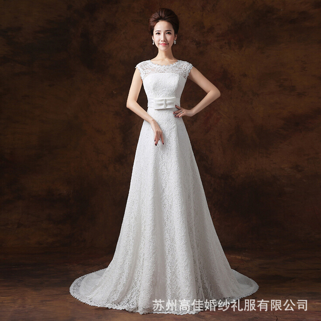 Plain Simple Sheath Wedding Dresses Woman Long Tail Vestido De Noiva