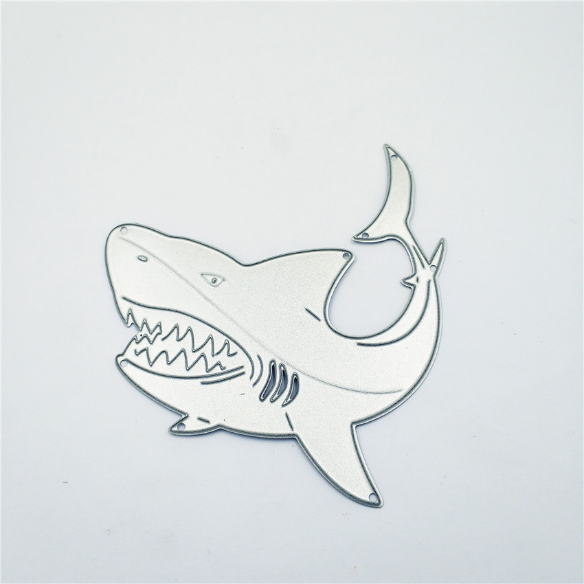 AZSG Ferocious Shark Cutting Dies For DIY Scrapbooking Card Making Decorative Metal Die Cutter Decoration in Cutting Dies from Home Garden