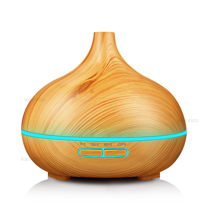 300ml Air Humidifiers Essential Oil Diffuser Aroma Humidifier lamp Purifier Electric Aroma Diffuser Mist Maker for Home-Wood