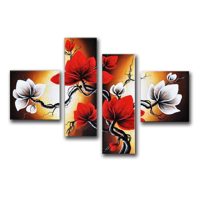 Large Handmade Modern Canvas Oil Painting Wall Art ,Free Shipping Worldwide Directly From Artist Flower Oil Painting  JYJ019