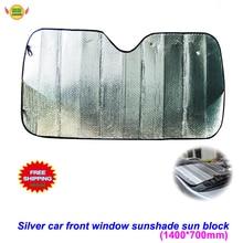 140X70cm Car Sunshade Sliver Sun Shade Windshield Visor Cover Front Rear Window UV Protection Shield Film Reflective Car Styling reflective car windshield sun shield heat shade silver