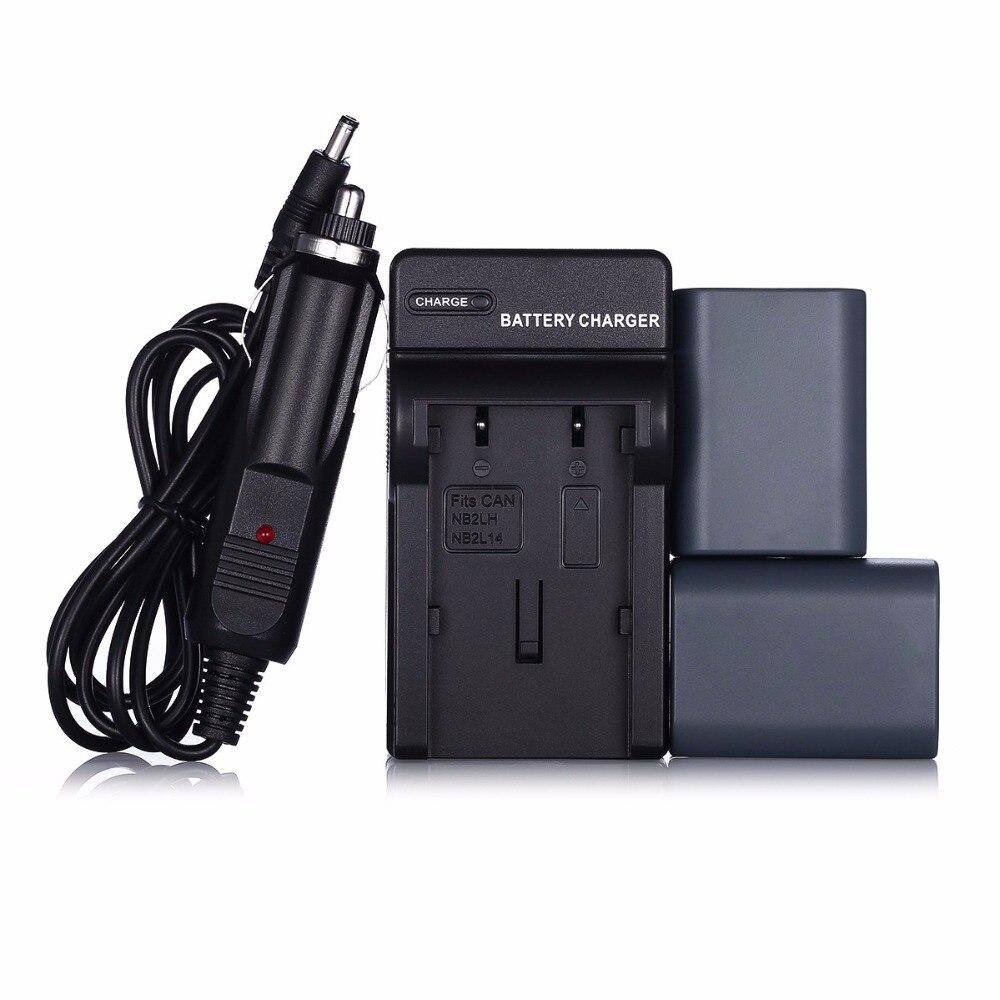 Powerextra 2pcs Nb 2lh Nb 2l Camera Li Ion Battery