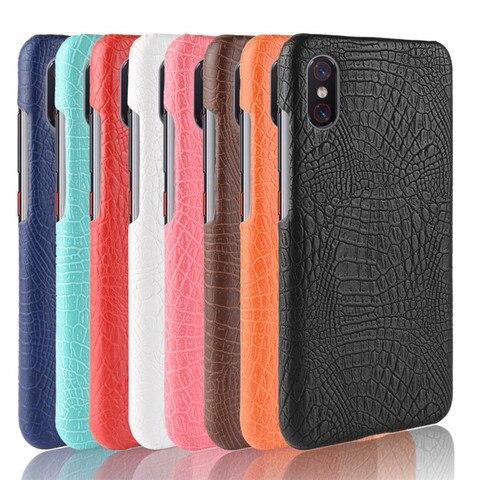 Xiaomi Mi 8 Pro Case Xiaomi 8Pro Luxury Crocodile pattern PU leather Back Cover Phone Cases For Xiaomi Mi 8 Pro Global version Multan